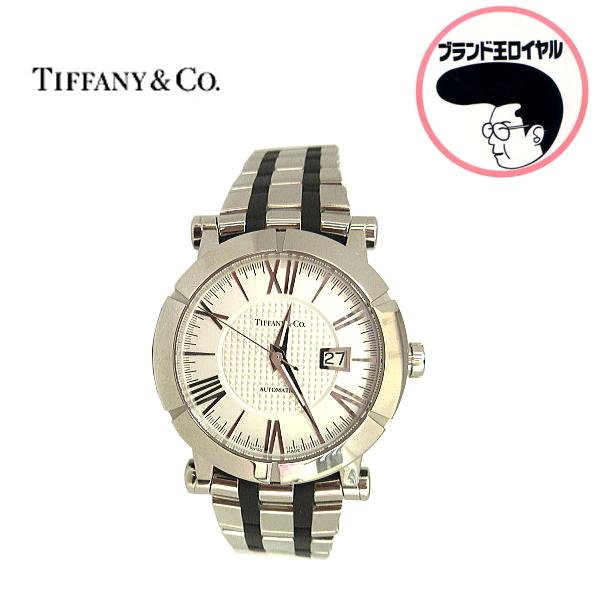 上品なティファニーの腕時計 中古 海外 TIFFANY ティファニー SALE アトラス デイト 腕時計 白文字盤 メンズ