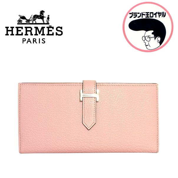 人気のピンクのベアン 大決算セール 当店は最高な サービスを提供します 中古 未使用品 HERMES ベアンスフレ ローズサクラ エルメス