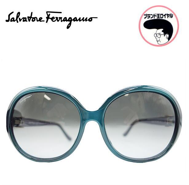 クールで格好良いフェラガモのサングラスです 中古 ☆新作入荷☆新品 Ferragamo フェラガモ タイムセール サングラス 紫外線予防に グリーン×ブラウン アイウエア