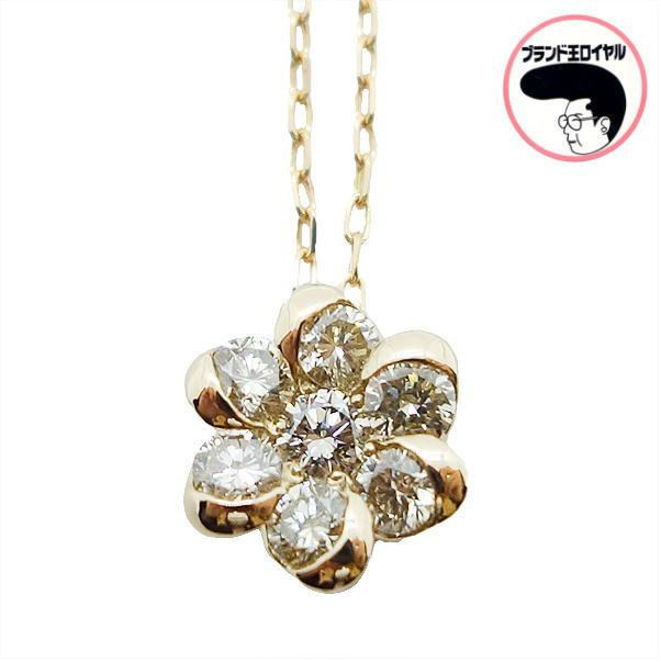 新品 可愛いプチペンダント ゴールド×ダイヤが素敵です ダイヤモンドネックレス 0.30ct 買収 k18PG セール品 ピンクゴールド