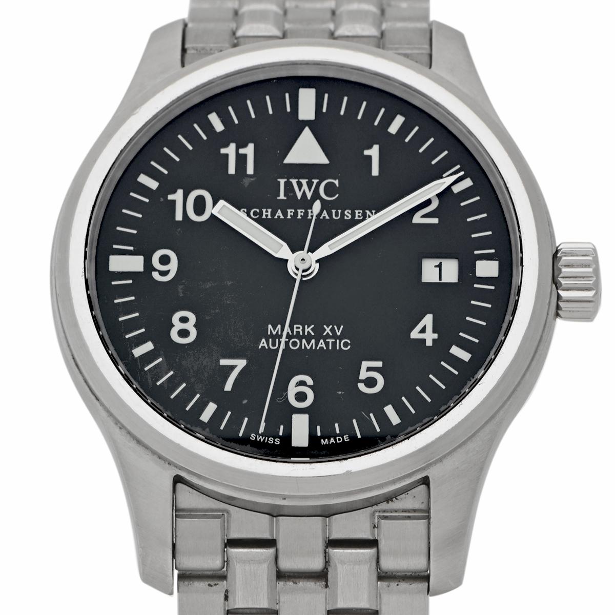 インターナショナルウォッチカンパニー IWC マーク15(マークXV) IW325307 腕時計 SS 自動巻き ブラック メンズ 【中古】