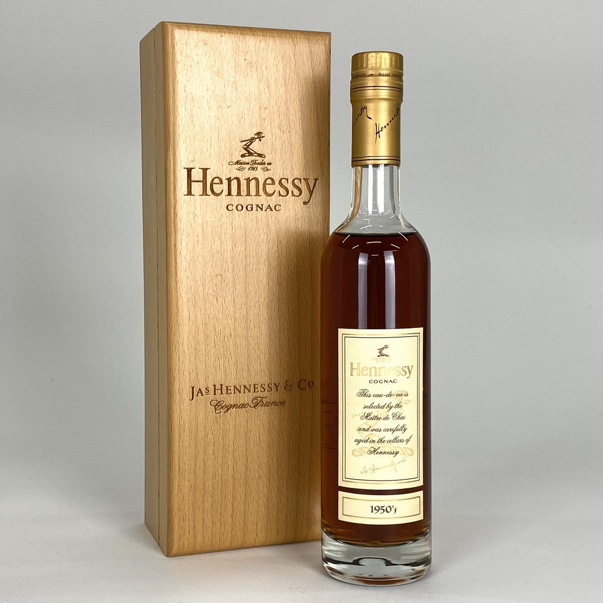 ヘネシー Hennessy 1950 木箱 350ml ブランデー コニャック 【古酒】