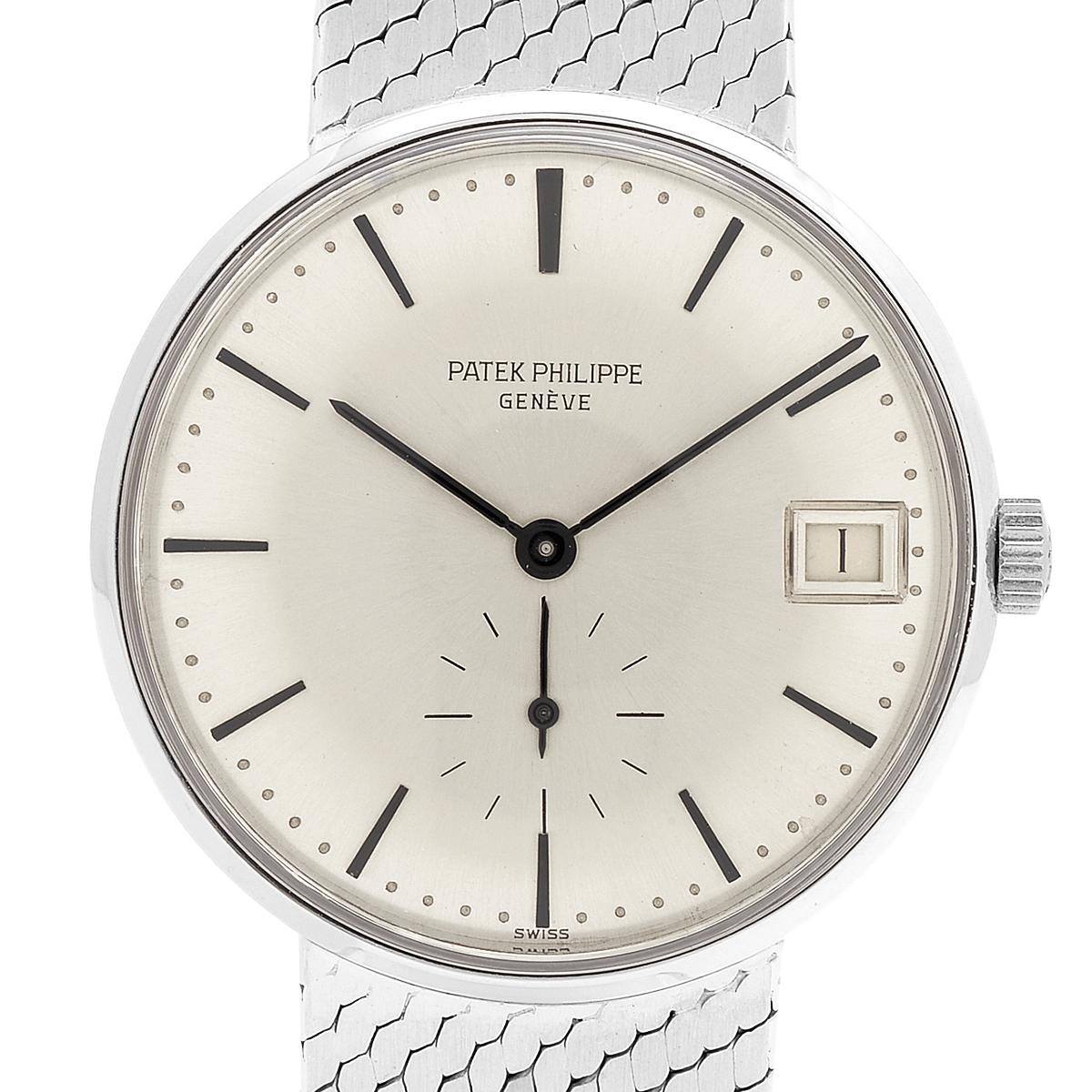 パテックフィリップ PATEK PHILIPPE カラトラバ 3514/4 腕時計 WG 自動巻き シルバー メンズ 【中古】
