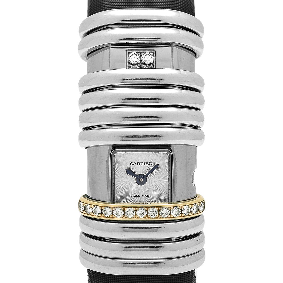カルティエ CARTIER デクラレーション WT000830 腕時計 SS PG クオーツ レディース 【中古】