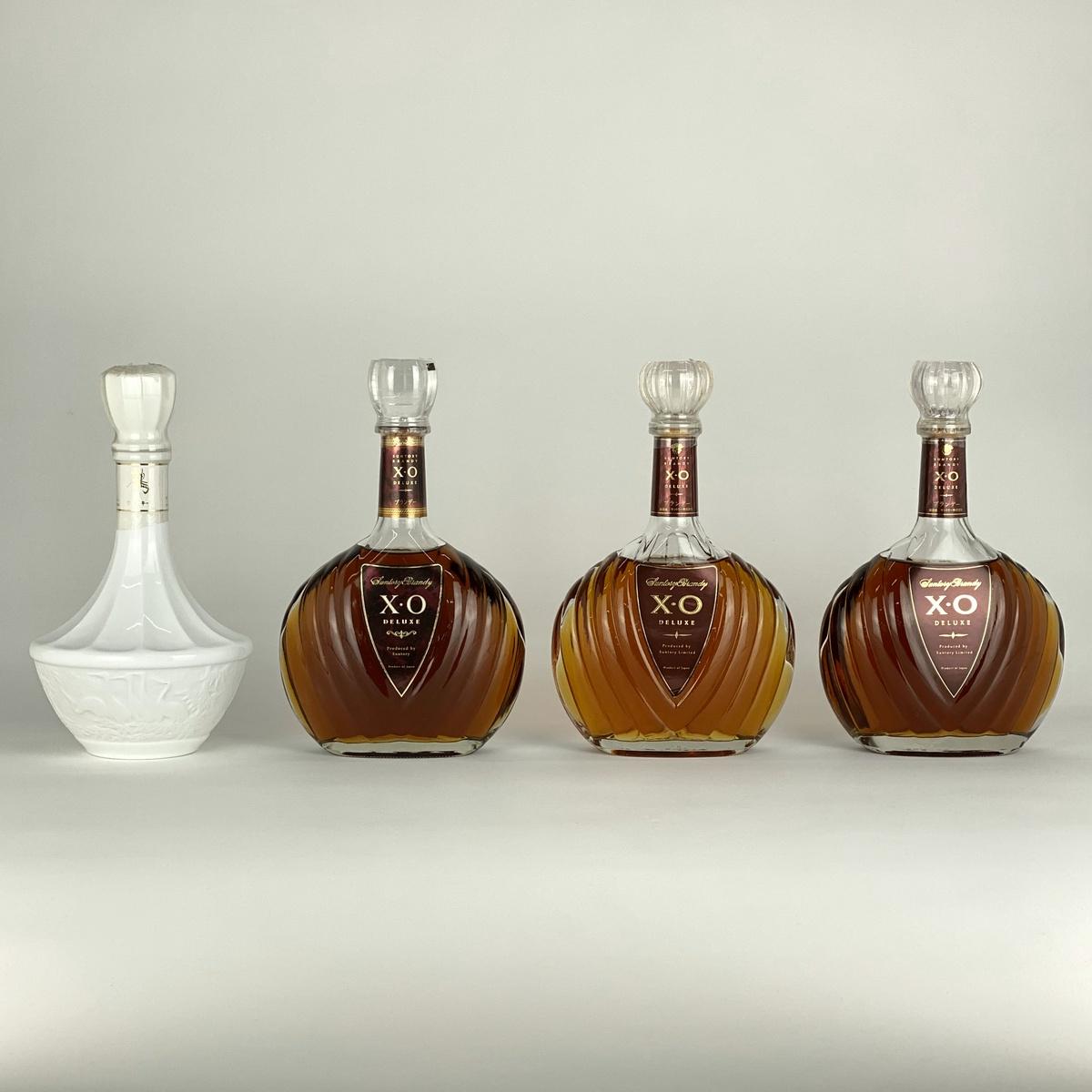 【東京都内限定】サントリー SUNTORY XO デラックス NIKKA 鶴 白陶器 4本セット 国産ウイスキー 【古酒】