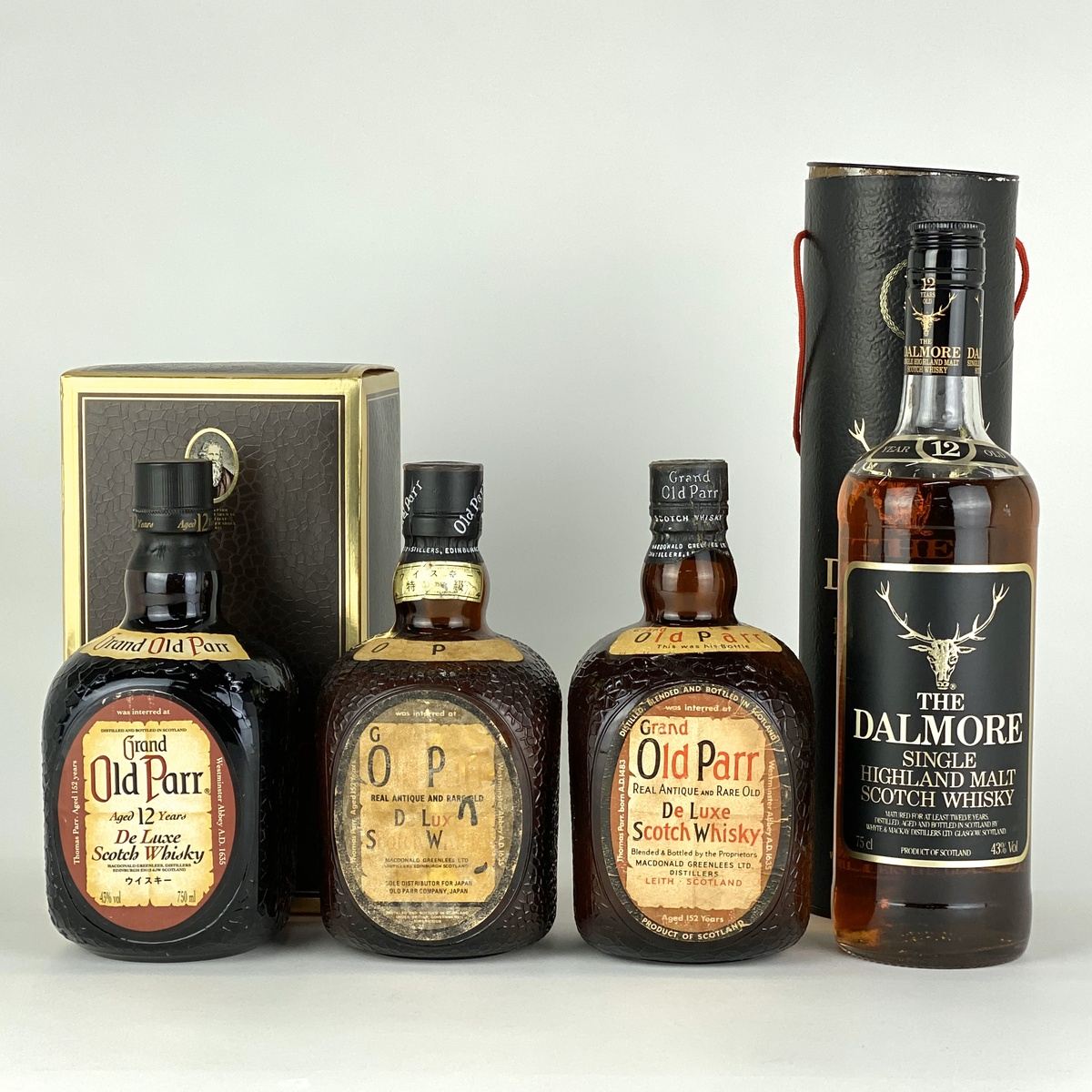 ダルモア オールドパー 4本セット ウイスキー セット 【古酒】