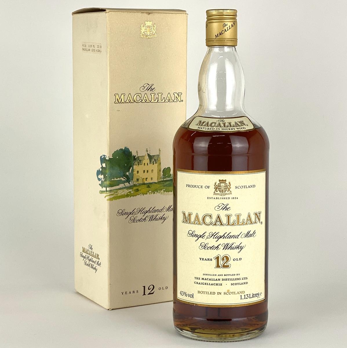 マッカラン MACALLAN 12年 シェリーウッド 旧ボトル  1130ml スコッチウイスキー シングルモルト 【古酒】