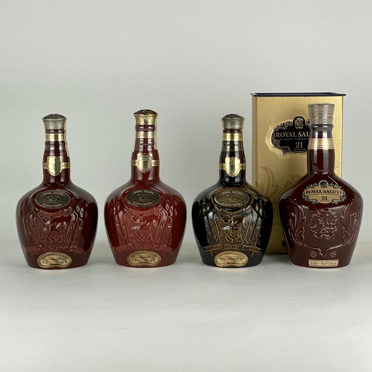 シーバスリーガル CHIVAS REGAL ロイヤルサルート 4本 700ml ウイスキー セット 【古酒】