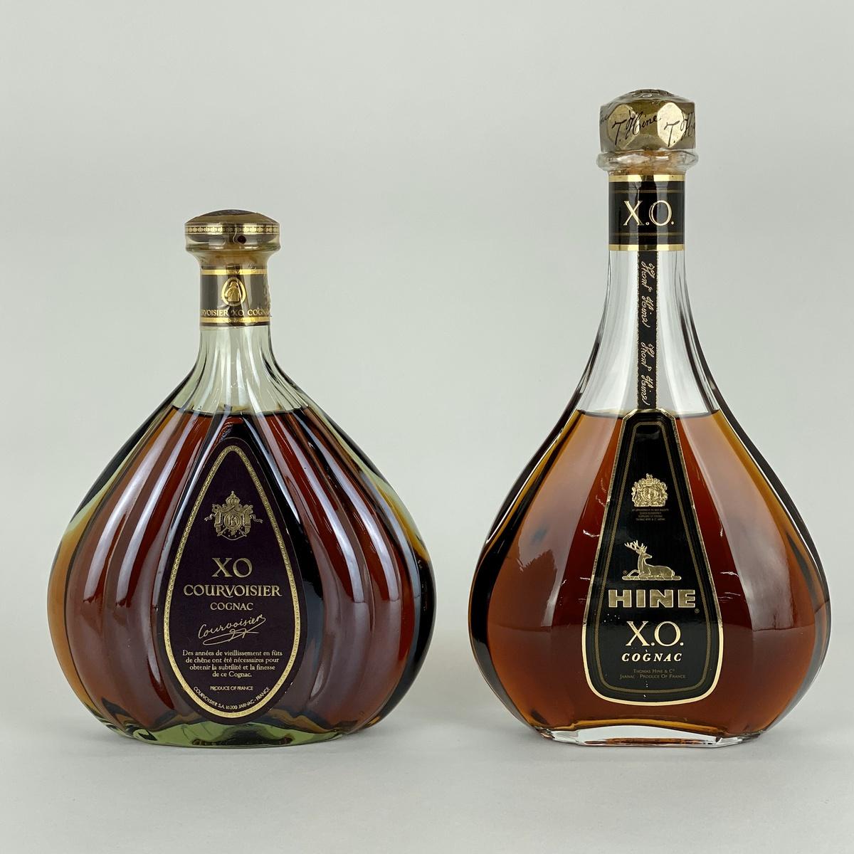 ハイン HINE COURVOISIER XO 2本 700ml ブランデー セット 【古酒】