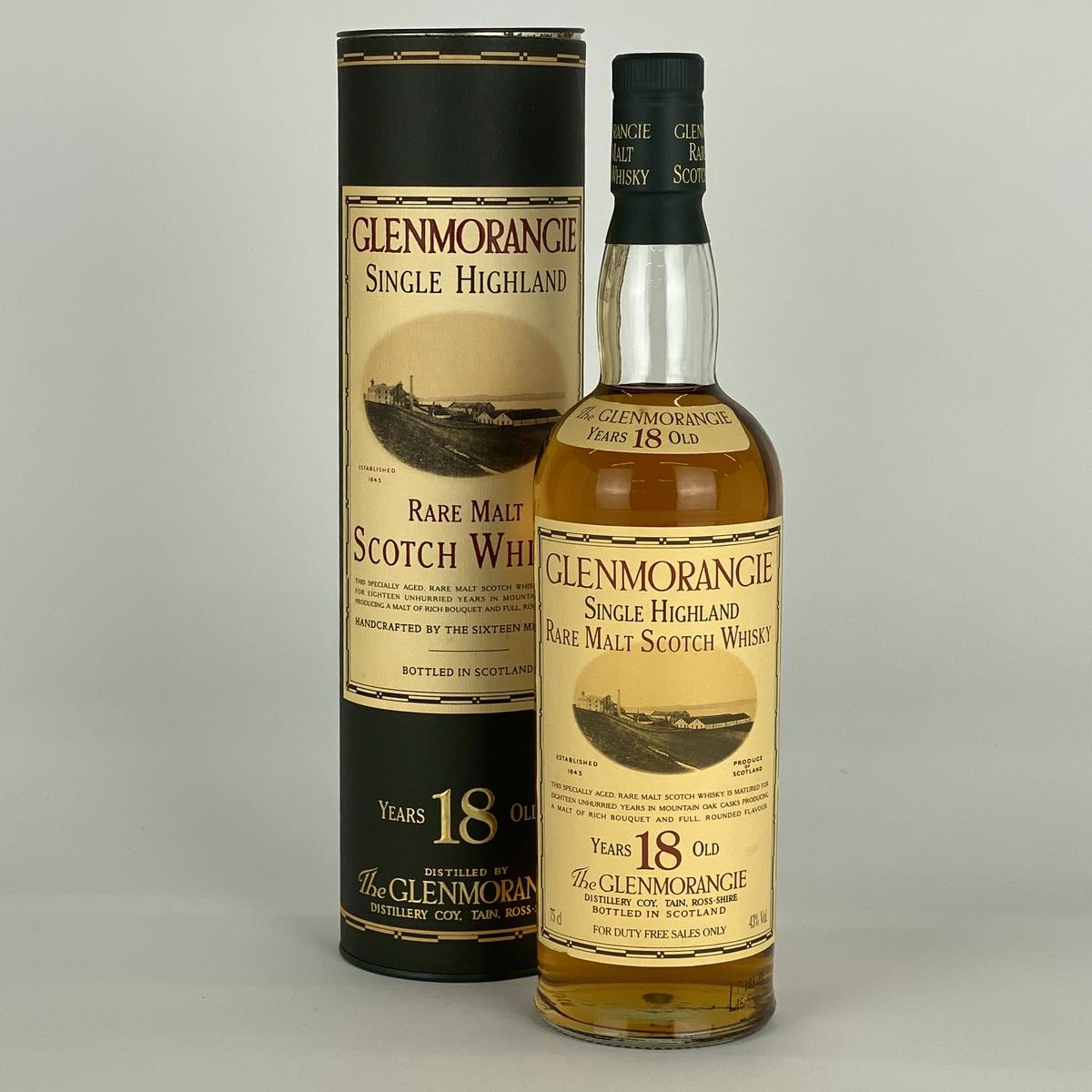 18年グレンモーレンジ オールドボトル 750ml スコッチウイスキー シングルモルト 【古酒】