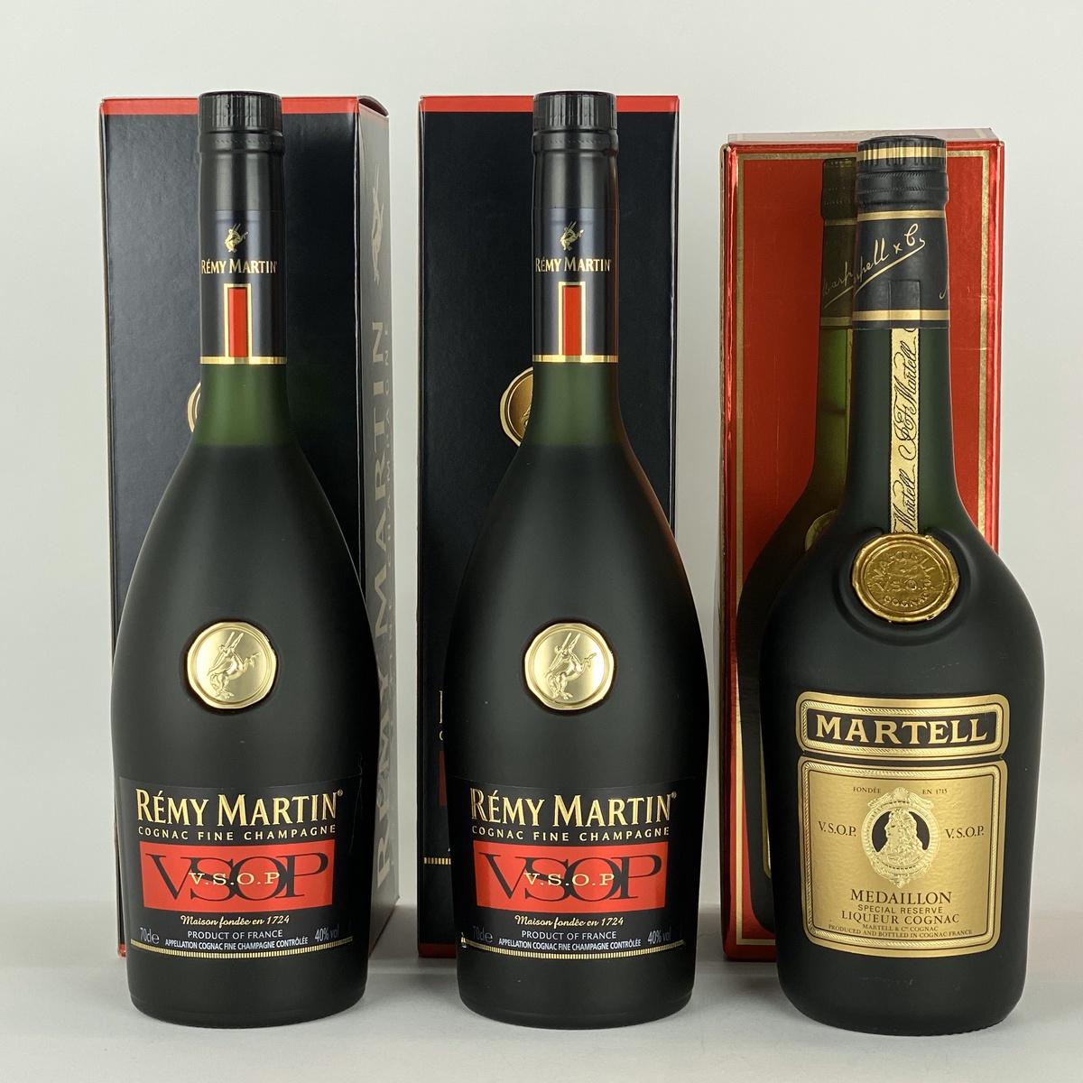 マーテル MARTELL レミーマルタン VSOP 3本 700 ml ブランデー セット 【古酒】