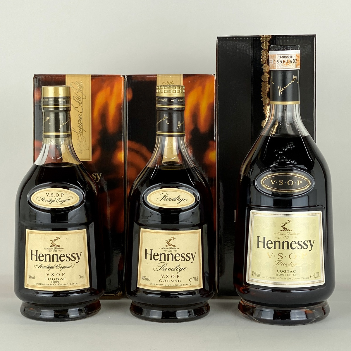 ヘネシー Hennessy VSOP プリヴィレッジ 3本セット ブランデー セット 【古酒】