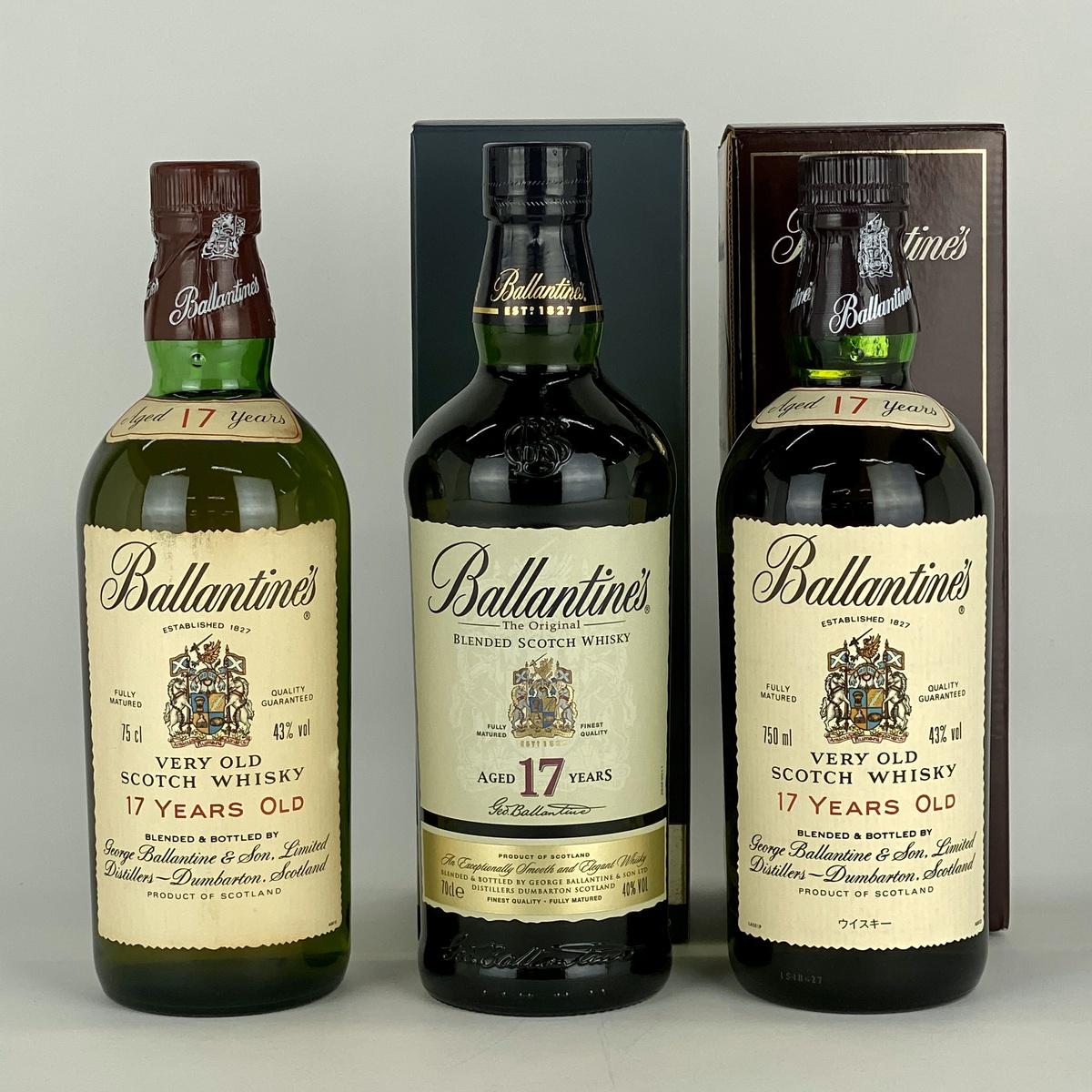 バランタイン Ballantines 17年 3本 スコッチ ウイスキー セット 【古酒】