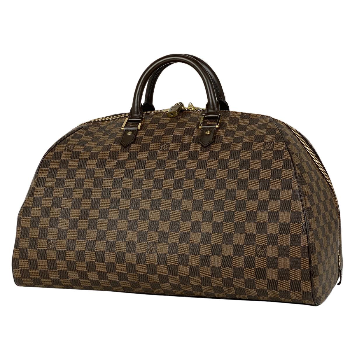 ルイ・ヴィトン Louis Vuitton リベラ GM 旅行 出張 2泊3日 ボストンバッグ ダミエ ブラウン N41432 レディース 【中古】