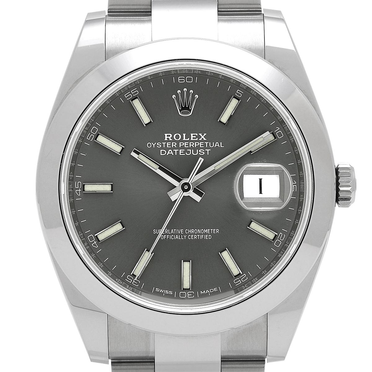ロレックス ROLEX デイトジャスト41 126300 腕時計 SS 自動巻き グレー メンズ 【中古】