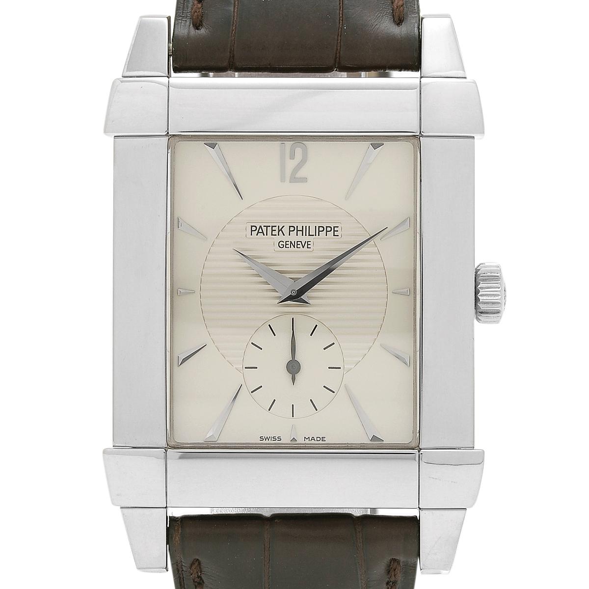 パテックフィリップ PATEK PHILIPPE ゴンドーロ 5111 腕時計 WG 手巻き シルバー メンズ 【中古】