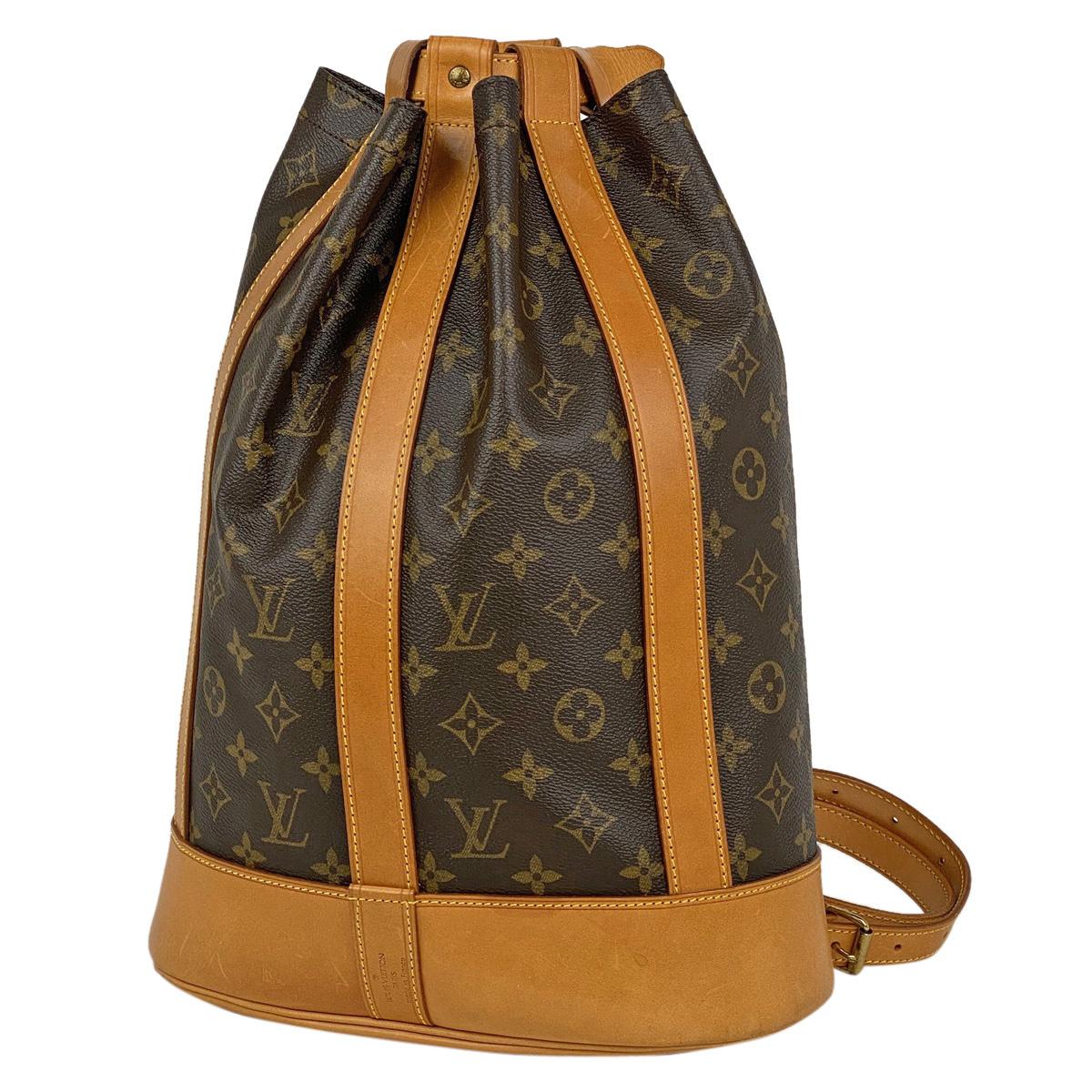 ルイ・ヴィトン Louis Vuitton ランドネ PM 肩掛け 巾着型 ショルダーバッグ モノグラム ブラウン M42243 レディース 【中古】