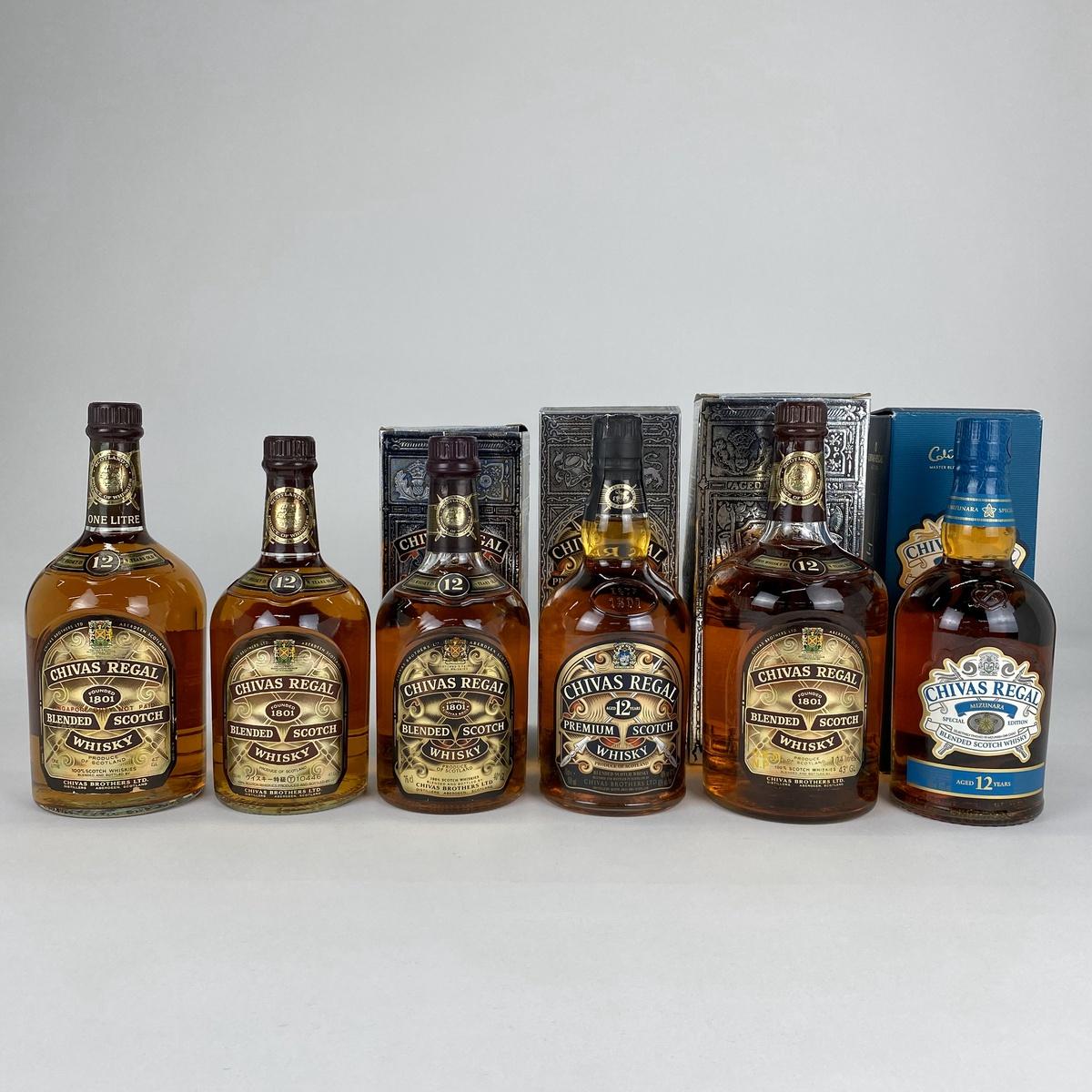 シーバスリーガル CHIVAS REGAL スコッチ 6本 旧ボトル ミズナラ ウイスキー セット 【古酒】