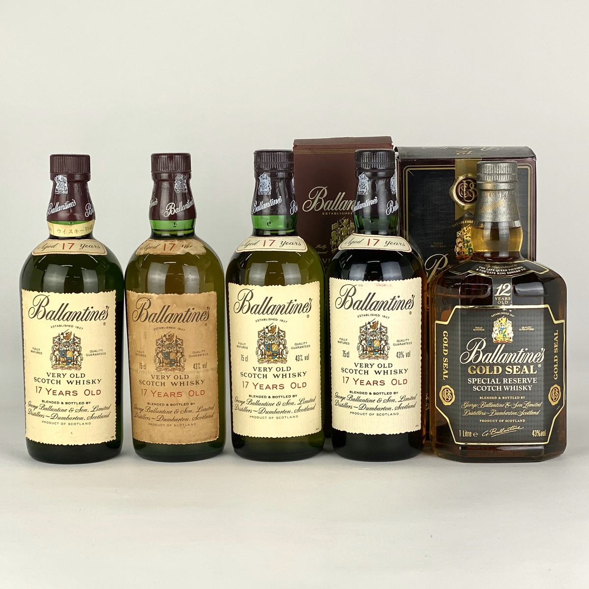 バランタイン Ballantines 5本 スコッチ ウイスキー セット 【古酒】