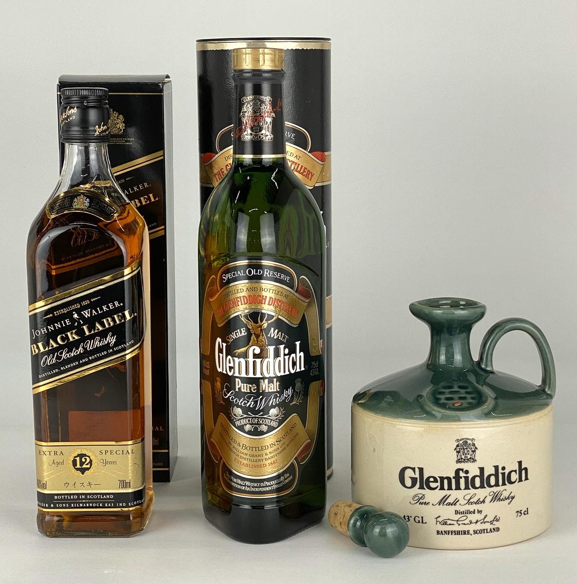 【店内最大70%OFF!6/4 20:00-6/11 1:59迄】 グレンフィディック Glenfiddich Johnnie Walker 3本 ウイスキー セット 【古酒】