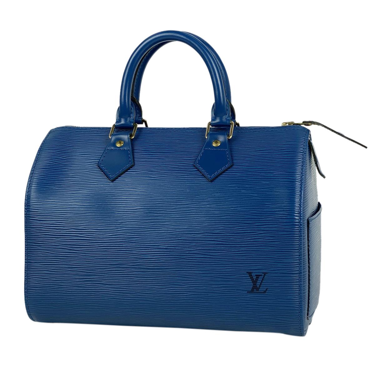 ルイ・ヴィトン Louis Vuitton スピーディ 25 ボストンバッグ 通勤鞄 通学鞄 ハンドバッグ エピ トレドブルー M43015 レディース 【中古】