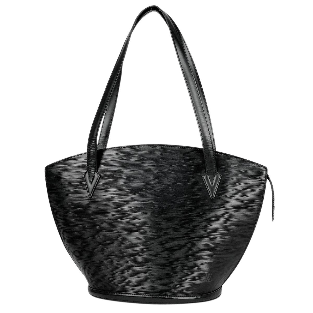 ルイ・ヴィトン Louis Vuitton サンジャック ショッピング 肩掛け ショルダーバッグ トートバッグ エピ ノワール(ブラック) M52262 レディース 【中古】