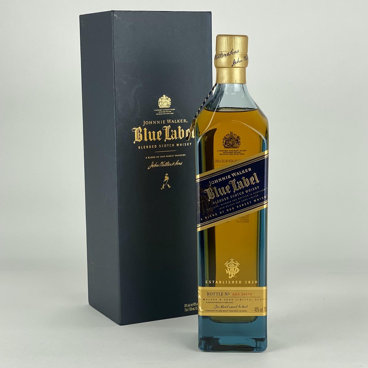 ジョニーウォーカー JOHNNIE WALKER ブルーラベル 750ml スコッチウイスキー ブレンデッド 【古酒】