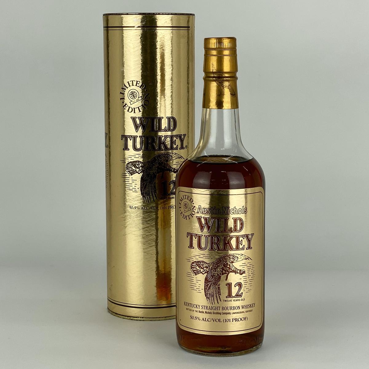 ワイルドターキー WILD TURKEY 12年 ゴールドラベル バーボン 750ml アメリカンウイスキー 【古酒】
