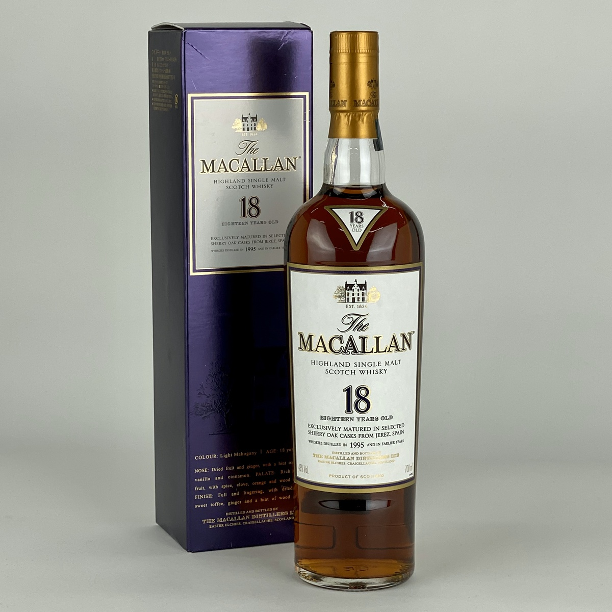 マッカラン MACALLAN 18年 1995年 700ml スコッチウイスキー シングルモルト 【古酒】