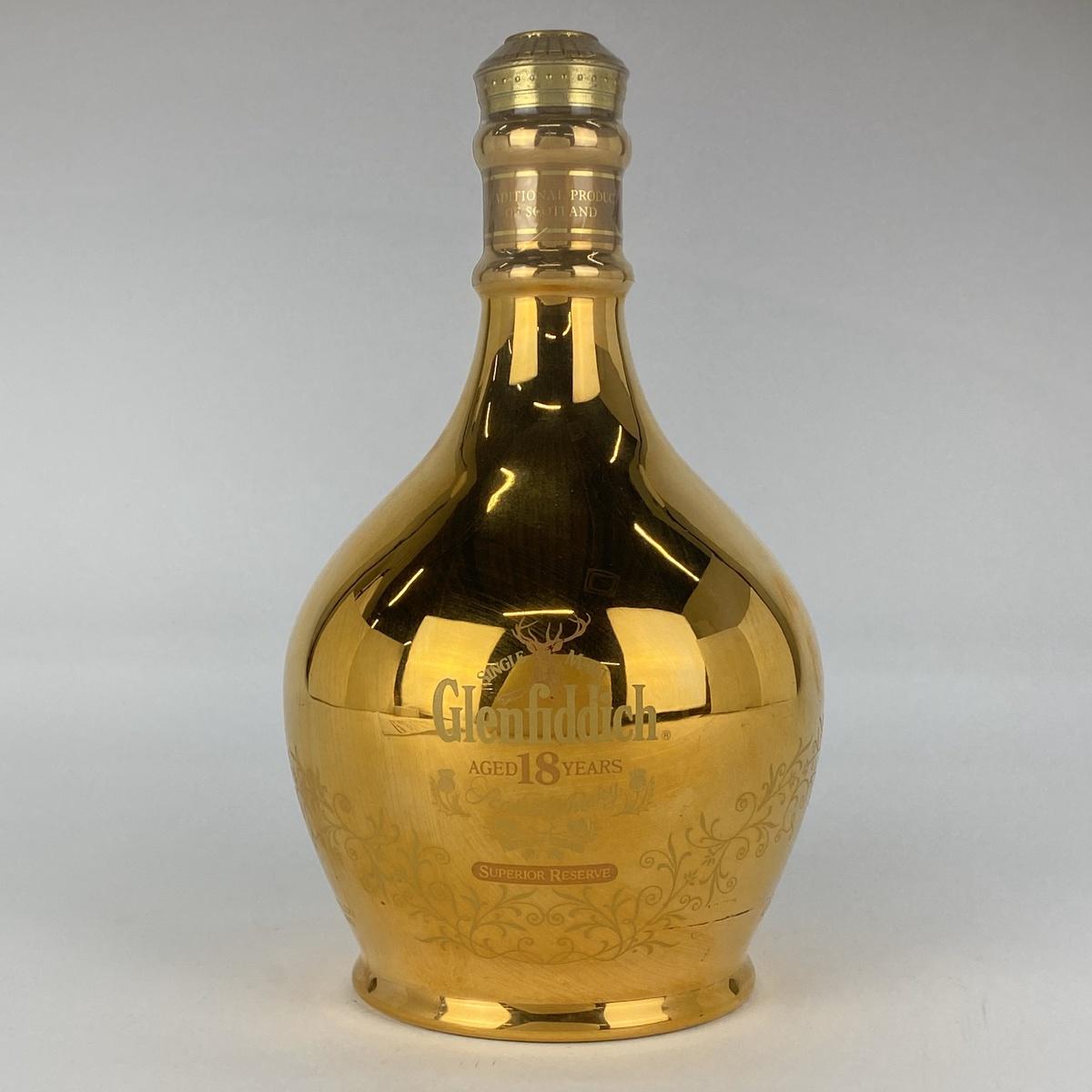 グレンフィディック Glenfiddich 18年ゴールドデキャンタ 750ml スコッチウイスキー シングルモルト 【古酒】