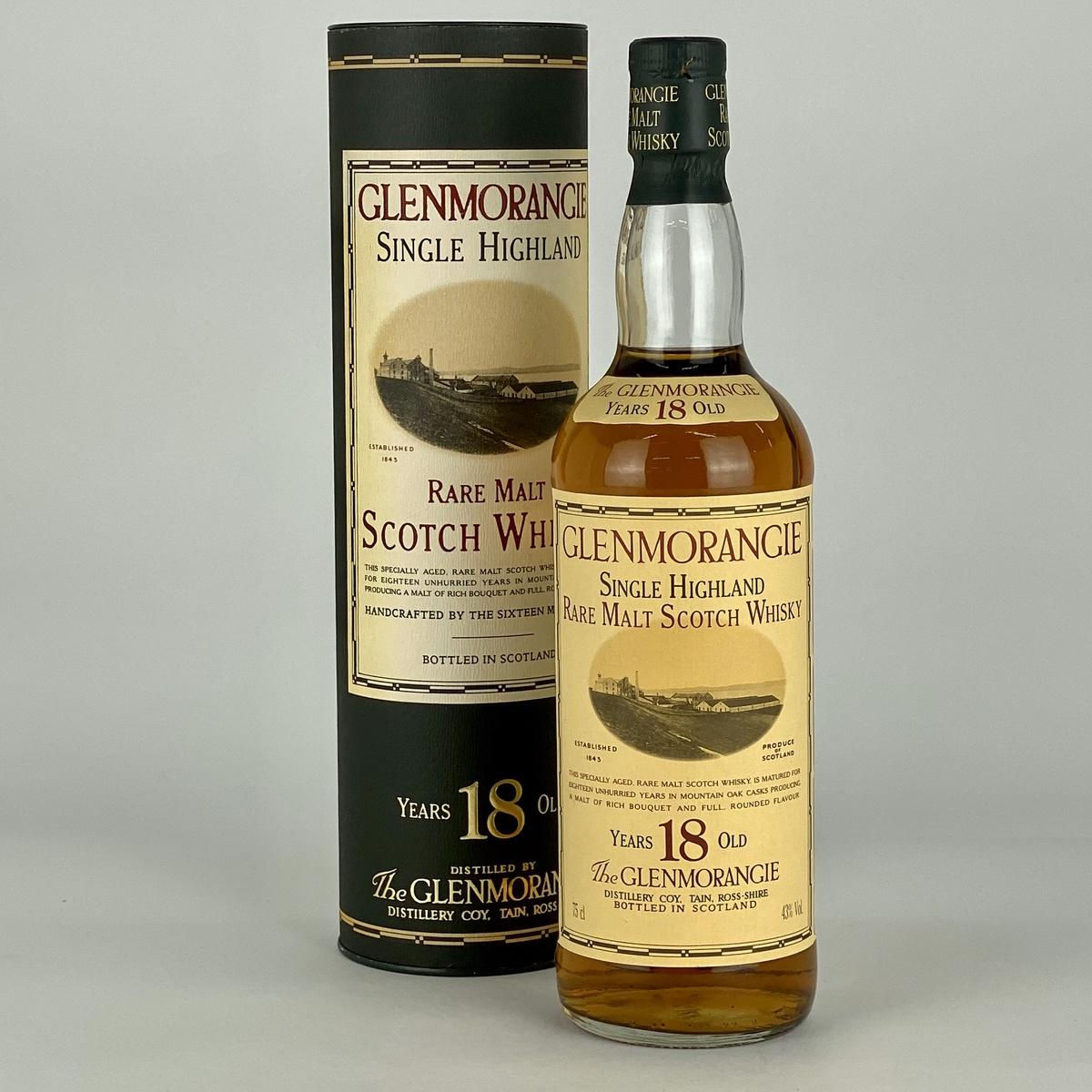 グレンモーレンジ 18年 750ml スコッチウイスキー シングルモルト 【古酒】