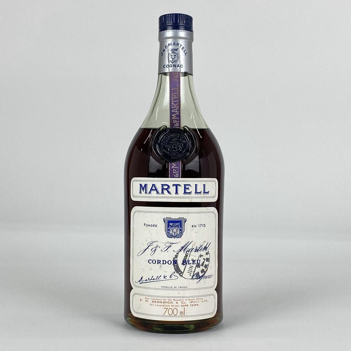 マーテル MARTELL コルドンブルー 白ラベル グリーンボトル 700ml ブランデー コニャック 【古酒】