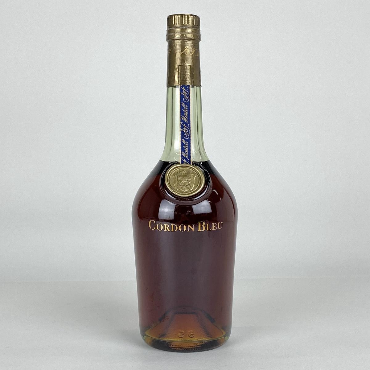 マーテル MARTELL コルドンブルー 青ラベル 旧ボトル グリーンボトル ラベルなし 700ml ブランデー コニャック 【古酒】