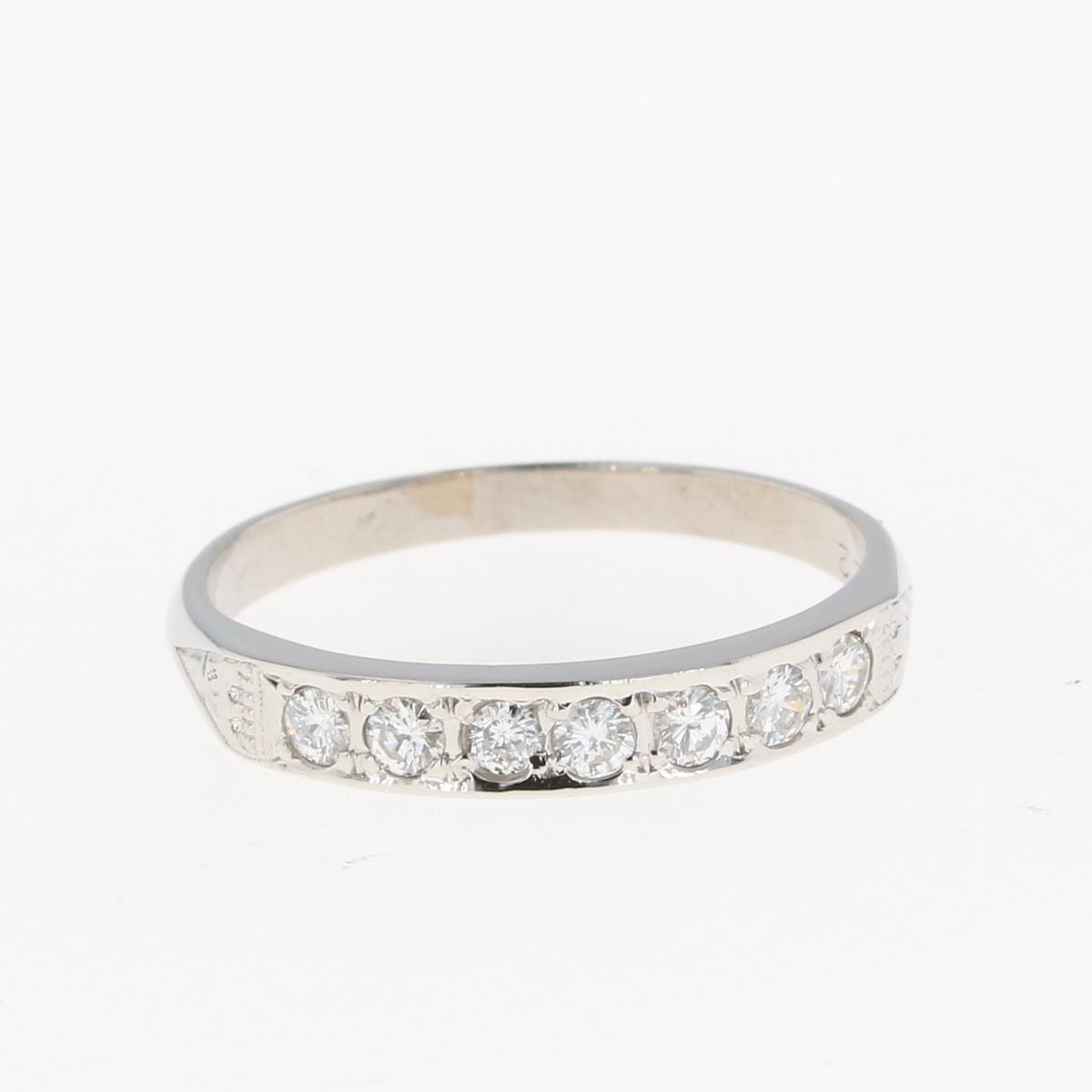 日本限定 USED 送料無料 メレダイヤ デザインリング プラチナ 指輪 中古 ダイヤモンド レディース 12号 リング 情熱セール Pt900