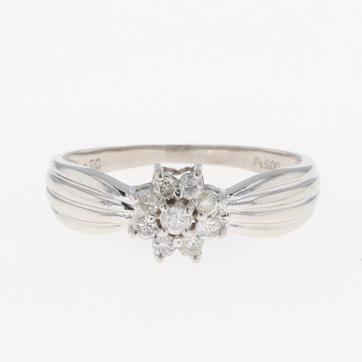 USED 全商品オープニング価格 送料無料 メレダイヤ デザインリング プラチナ 指輪 Pt900 レディース 13号 バースデー 記念日 ギフト 贈物 お勧め 通販 リング 中古 ダイヤモンド