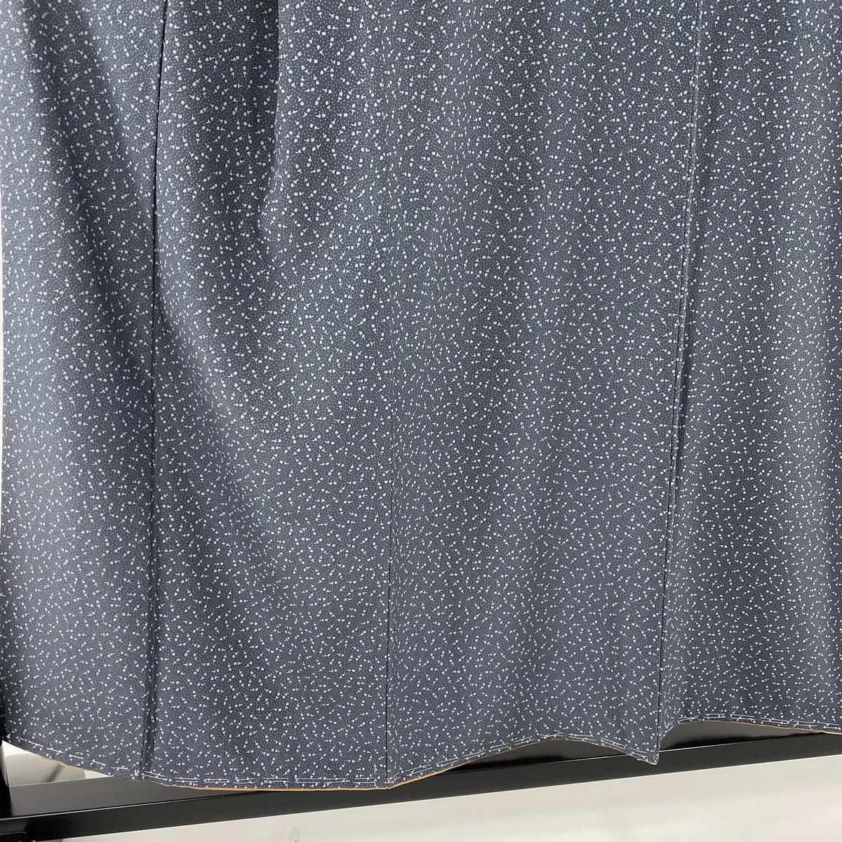 P20倍6 26 18 00 6 30 17 59迄小紋 美品 秀品 花の蕾 青灰色 袷 身丈154cm 裄丈64cm M 正絹pb20kiOkXuPZiT