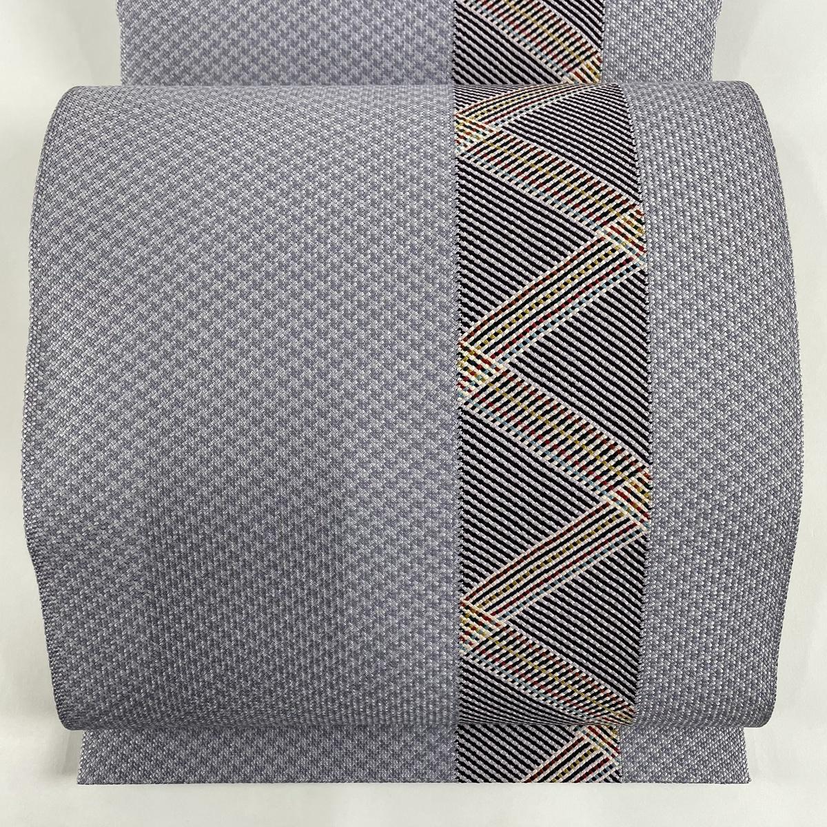 ランクS お気に入り 帯 激安通販 リサイクル 送料無料 開き名古屋帯 美品 幾何学 秀品 薄紫 中古 正絹