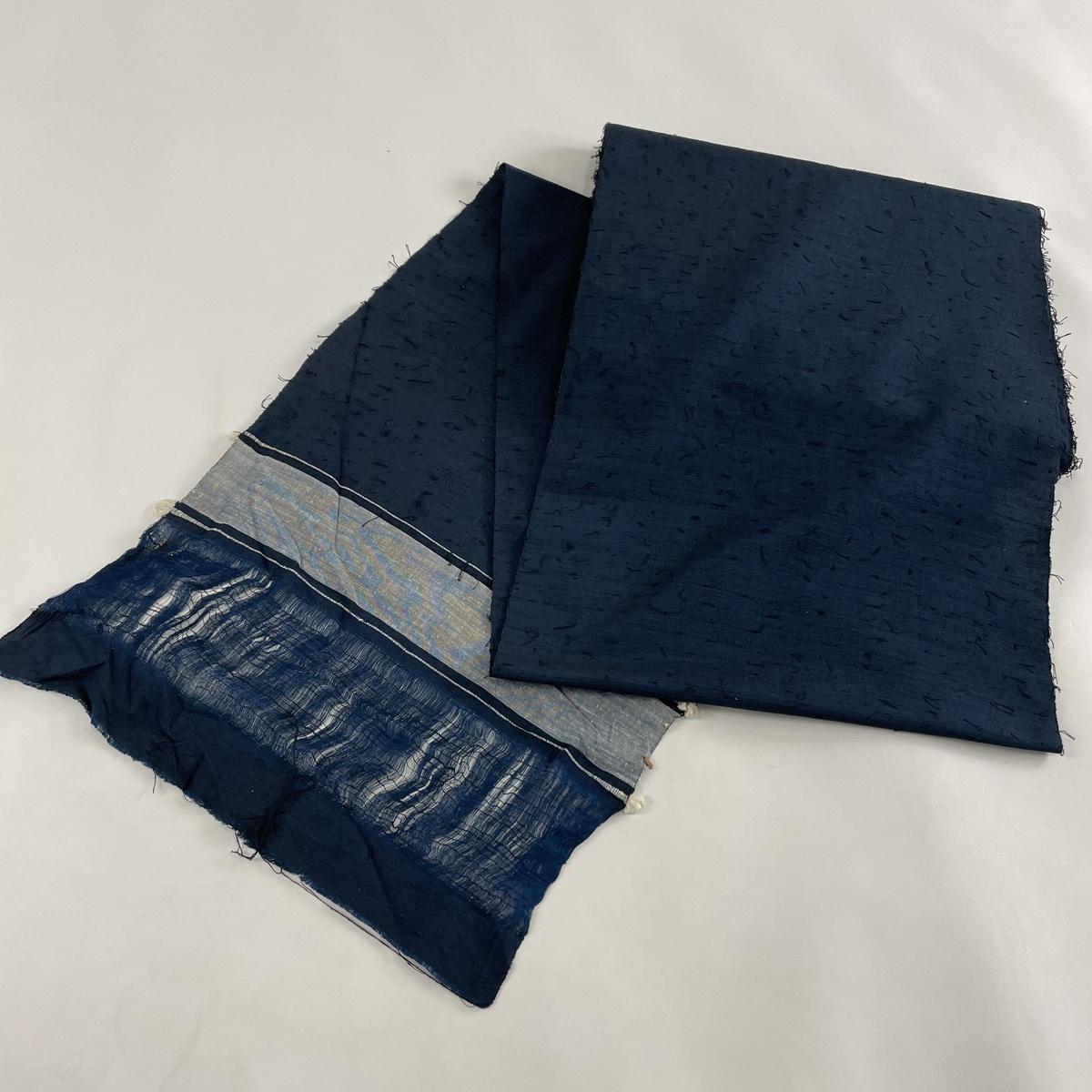 ランクB 反物 入手困難 リサイクル 送料無料 優品 中古 紺色 ひげ紬 正絹 人気上昇中 アンサンブル