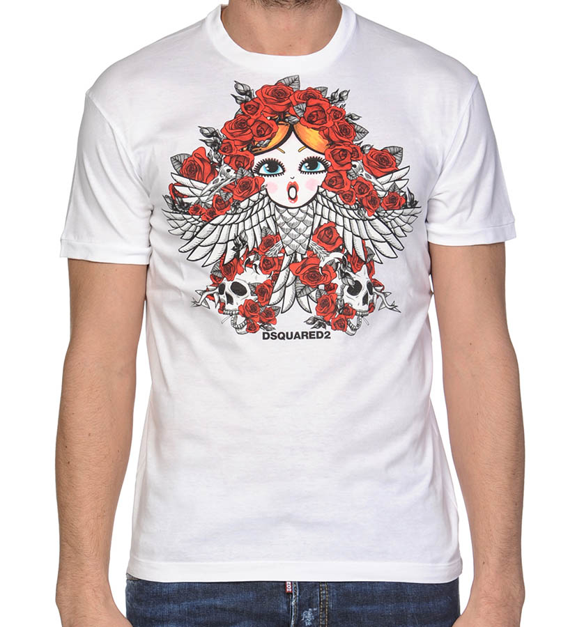 DSQUARED2【ディースクエアード】 半袖Tシャツ S74GD0030 ホワイト
