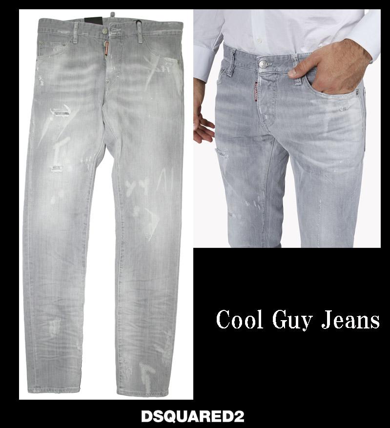 DSQUARED2【ディースクエアード】cool guy Jeans ストレッチデニムジーンズ ライトグレー 71LB0347
