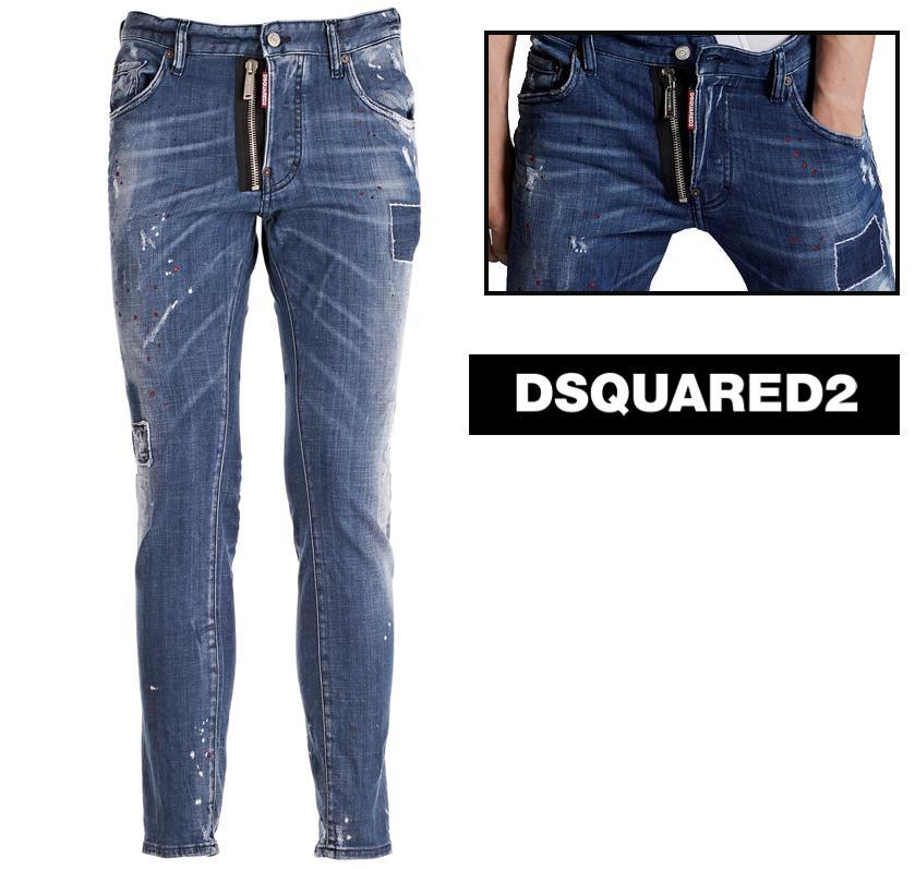DSQUARED2 ディースクエアード Skater Jeans デニムジーンズ S74LB0423
