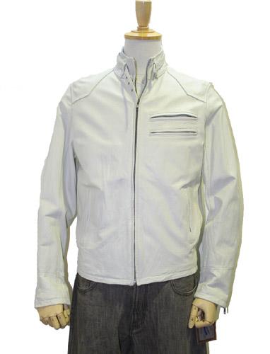 【牛革】ラーダースジャケット レザー ホワイト