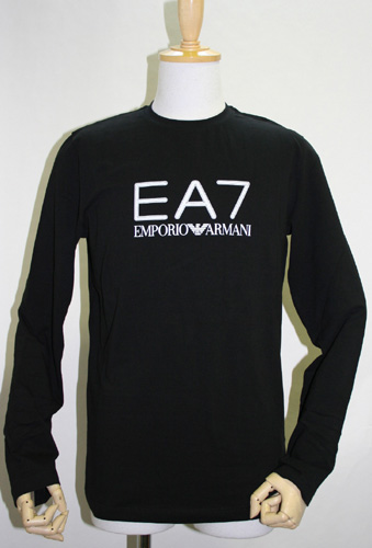 537a817a1f0a brandplanet: Emporio Armani EA7 logo long T shirt black | Rakuten ...