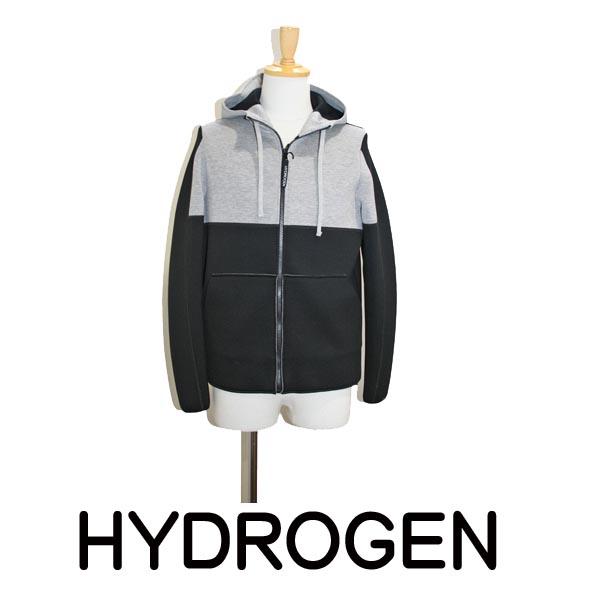 【HYDROGEN】ハイドロゲン フード付き フルジップ パーカー ジャケット ウェットスーツ地 170707
