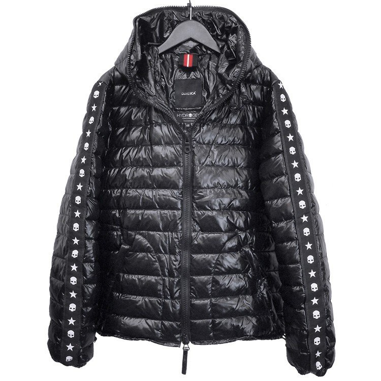 YUNY Mens Oversized Pockets Plus Size Zipper Stand Collar Down Coat Black M