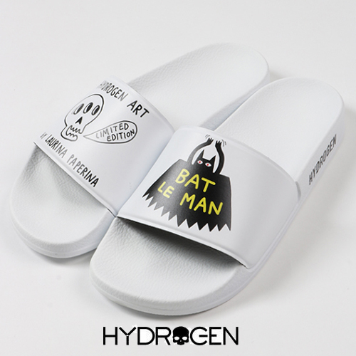 【HYDROGEN】ハイドロゲン メンズ サンダル バット ルマン サンダル BAT LE MAN SLIPPERS ホワイト LP3902