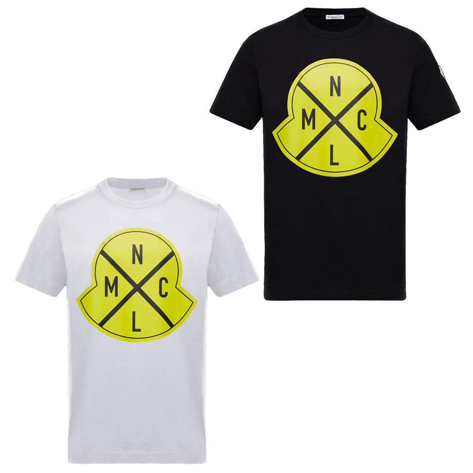 MONCLER モンクレール メンズ 半袖Tシャツ モンクレールジーニアス イエロービッグロゴ MAGLIA T-SHIRT