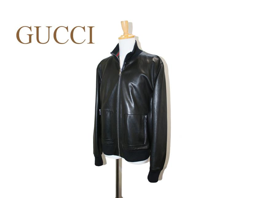 GUCCI gucci グッチ レザージャケット ブラック 58サイズ 大きいサイズ ビッグサイズ