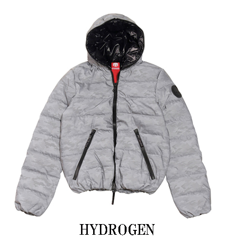 HYDROGEN DUVETICA ダウンジャケット ハイドロゲン バイ デュベチカ メンズ カモフラ リフレックス シルバー 25D001