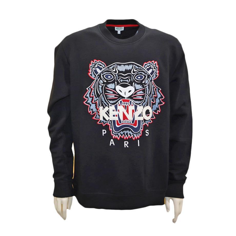 KENZO kenzo ケンゾー メンズ トレーナー スウェット タイガー 刺繍 ブラック プルオーバー ライトブルータイガー 2020春夏新作 5SW001 4XA 99